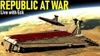 THE CIS INVADES THE CORE -- Republic at War Live (Star Wars Empire at War mod)