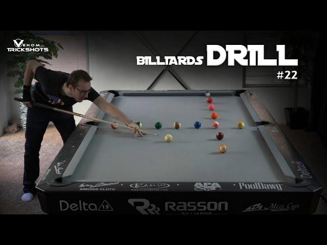 Billiards Drill #22: The cross 15 - Venom Trickshots