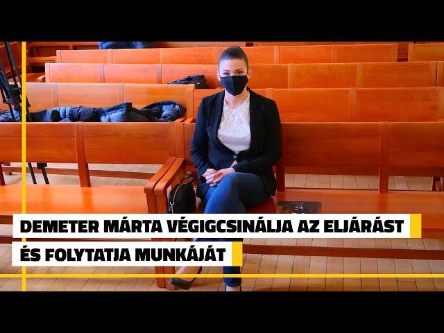 Demeter Márta: Természetesen végigcsinálom az eljárást és folytatom a munkámat | Jövő TV