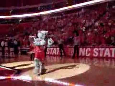 Intro of the NCSU Wolfpack Basketball Team at the RBC Center