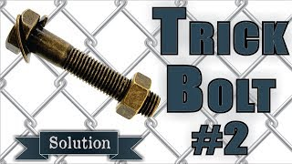 Solution for Trick Bolt #2 from Puzzle Master Metal Puzzles