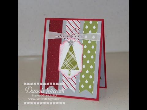Stampin Up Christmas Card Tutorial YouTube
