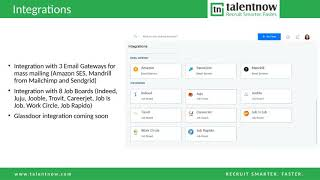 Talentnow is a technology leader in recruitment software and has helped several leading organizations seamlessly manage quality manpower recruitment.more inf...
