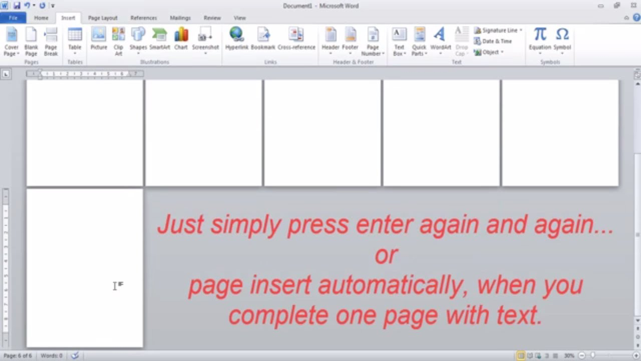 How To Insert Page In MS Word