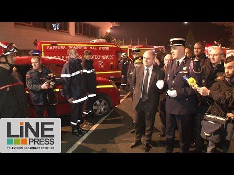 Bruno Leroux visite policiers, gendarmes et pompiers / Val d'Oise (95) - France 06 décembre 2016