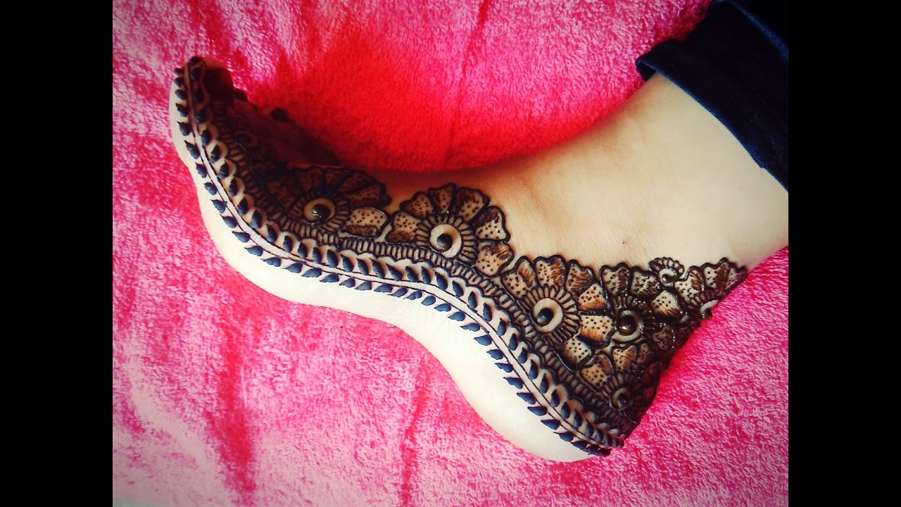 Mehndi Patterns For Legs : Striking arabic mehndi designs for legs and feet