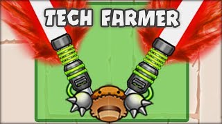 THE TECHNOLOGICAL FARMER !! - FARMER BECOMES THE MOST OP !! Bloons TD Battles HACKS/MODS