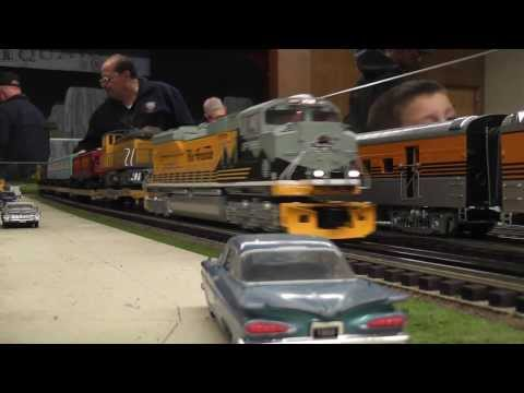 Yellow Freight Locomotives on the High Rail in HD