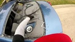 2010 honda civic. vandals broke windshield,back glass,& door glass ( rompen cristales vandalos)