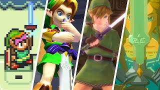 Evolution of Link Getting the Master Sword in Zelda Games (1991-2021)