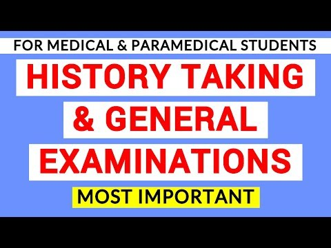 01 HISTORY TAKING AND GENERAL EXAMINATIONS   CLINICAL LAB   PHYSIOLOGY PRACTICALS