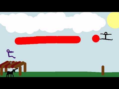Real mute story Animation cartoon short movie sticks pivot