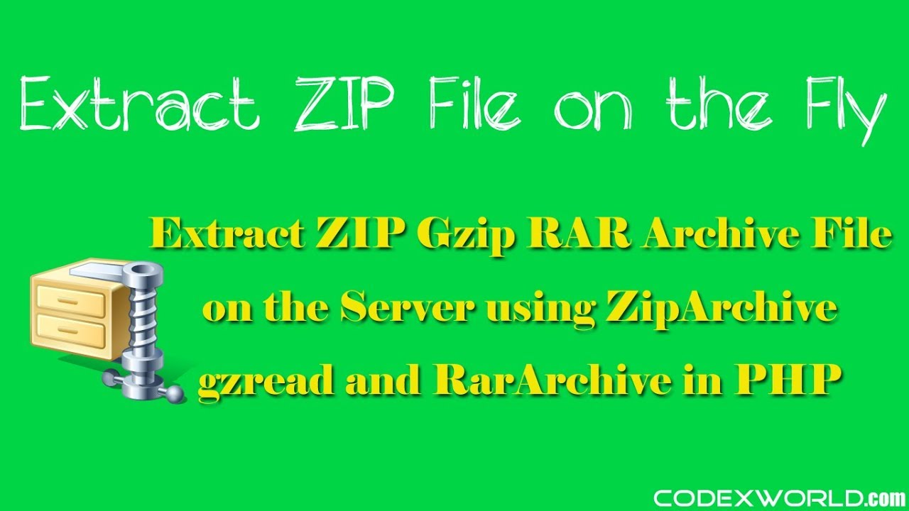 Extract ZIP File using PHP - CodexWorld