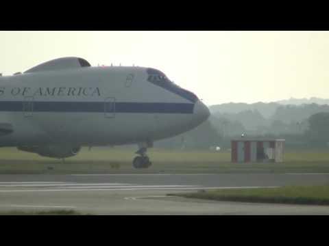 Boeing E-4 Arriving/Departing RAF Mildenhall 25/26 August 2016