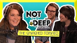 SMASHED TOMATO CHALLENGE (ft Jack and Dean) // Grace Helbig Thumbnail