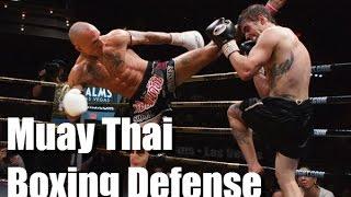 Boxing Defense in Muay Thai (Kevin Ross vs Michael Thompson)