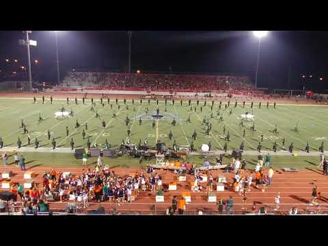 Riverside Poly Proud Heritage Band - LOST BOY - Halftime, Poly vs. King at Ramona HS, 9/8/18