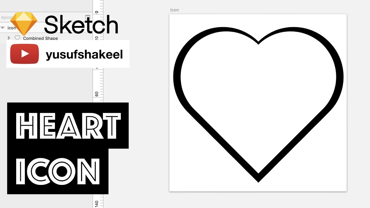 Sketch how to create heart in sketch sketch