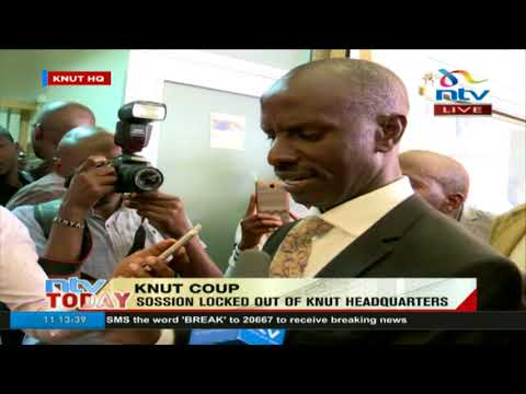Wilson Sossion denied access to his office at KNUT HQs despite a court order