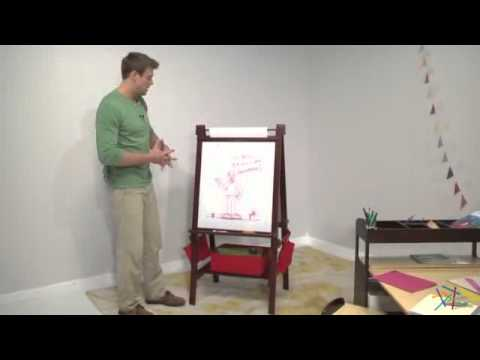 Clic Playtime Deluxe Easel Espresso Product Review Video