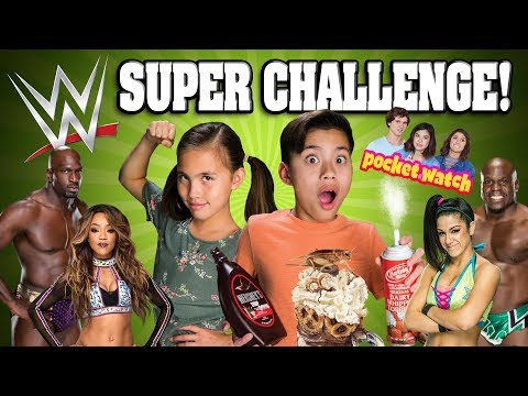WWE VS. EVANTUBEHD!!! 5 Challenges in 5 Mintutes! Eat It or Wear It! Gummy VS Real! Pizza Challenge!