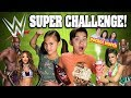 EVANTUBEHD vs WWE!!! 5 Challenges in 5 Minutes! Eat It or Wear It! Gummy VS Real! Pizza Challenge!