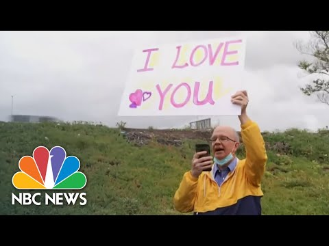 Husband Cheers On Wife Of 30 Years During Her Chemo With Signs Of Love | NBC Nightly News