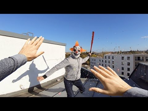 Horror Clowns VS Parkour POV | Creepy Halloween Chase II