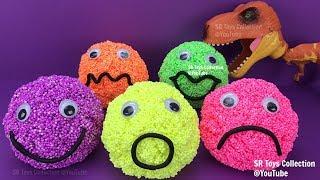 Foam Clay Smiley Face Surprise Toys Chupa Chups Robocar Poli Kinder Egg Despicable Me 3 Hello Kitty