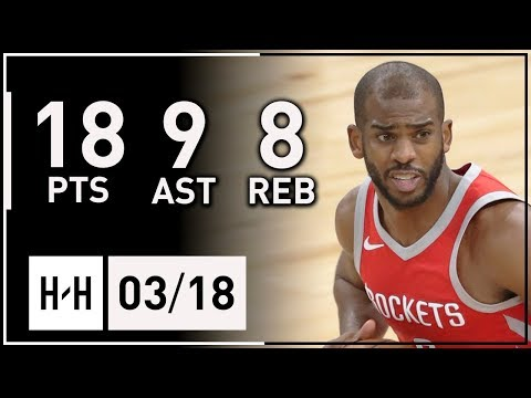 Chris Paul Full Highlights vs Timberwolves (2018.03.18) - 18 Pts, 8 Reb, 9 Assists, CLUTCH!
