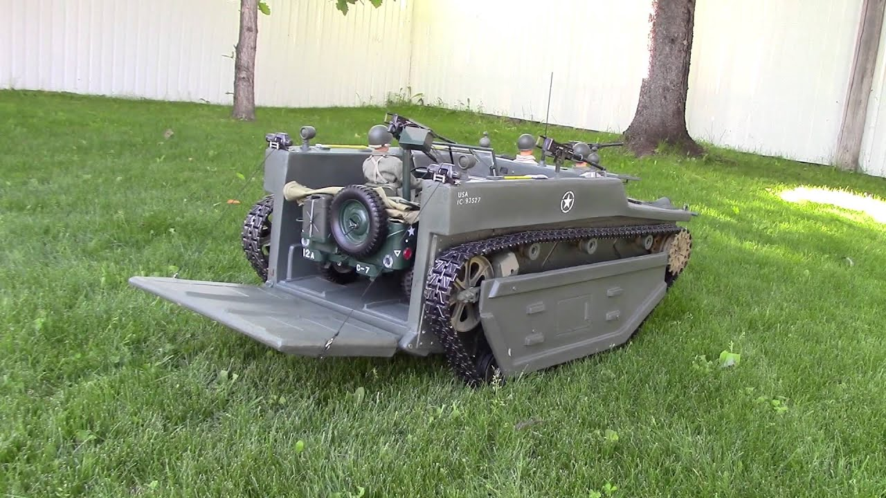 HUGE RC WWII AMTRAC LVT 1 6 Scale
