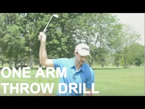 Simple Golf Swing Drill For Power And Accuracy: One Arm Pre Set Throw