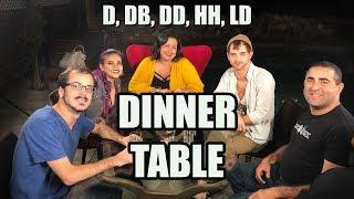 Table du dîner, Melmira: D, DB, DD, HH, & LD