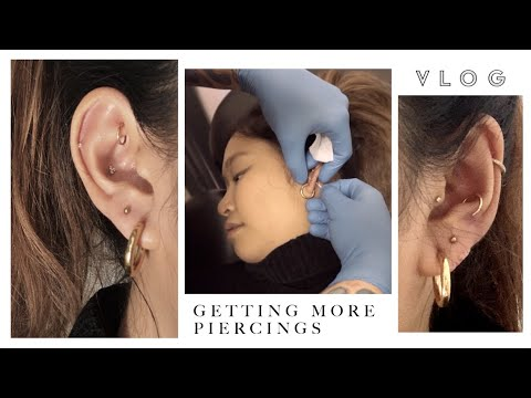 Getting More Piercings Vlog (just second lobes this time) | inspiroue
