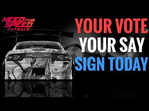 Need For Speed Payback || HAVE YOUR SAY || CAR LIST PETITION