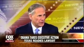 Greg Abbott on Fox News Sunday Discusses Fighting Obama's Executive Amnesty