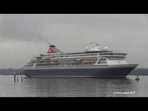 'MS Balmoral' arrival from Hamburg to Southampton Docks 20/12/17