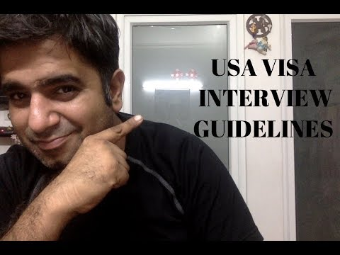 How to give usa visa interview by abhishek sharma in hindi part 1