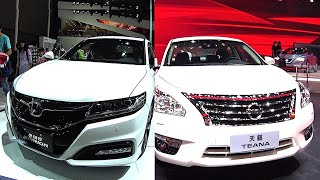 Luxury Affordable sedans 2016, 2017 Honda Accord Spirior VS Nissan Teana Sentra 2016, 2017 model