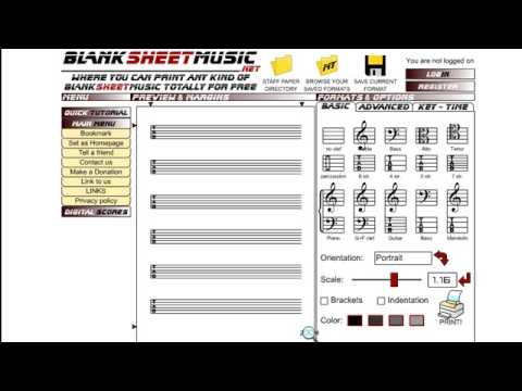 Free blank tab manuscript printing software