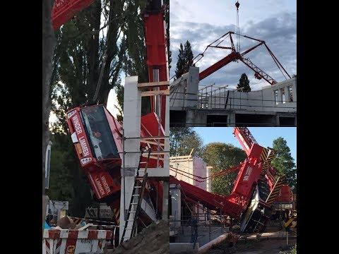 Crane accident: Spierings mobiele torenkraan omgevallen in Haarlem