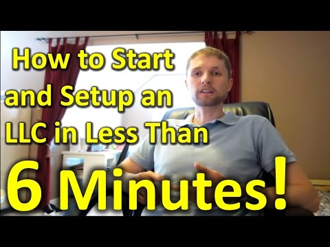 How to Start and Setup an LLC On-line in Less Than 6 Minutes!