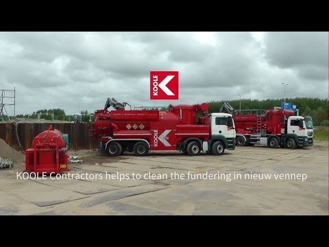 KOOLE Contractors cleans the electricity grinds foundations in Nieuw - Vennep