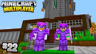 HUGE HOUSE UPGRADE in Minecraft Multiplayer Survival! (Episode 22)