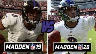 Madden 20 vs Madden 19 Graphics Comparison! WOW....