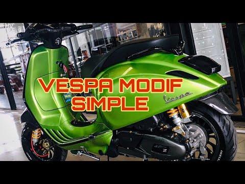 VESPA MATIC MODIF SIMPLE | JIK WAH CHANNEL - YouTube