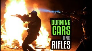 Burning And Shooting Up Cars - T.REX ARMS Style