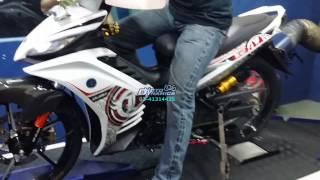 Yamaha LC135 (5 Speed) Tune to 200Km/h On Dyno - Motodynamics Technology Malaysia