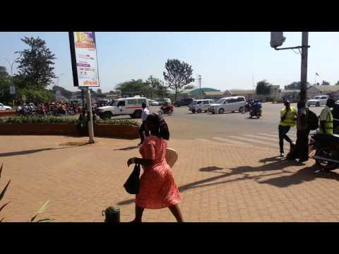 Kampala City Uganda 2016. Busy Road Intersection.