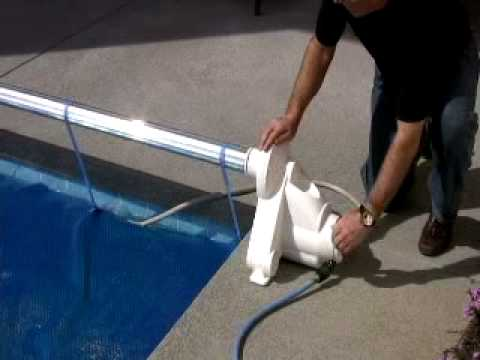 The Auto Reel An Automatic Pool Cover Roller Youtube